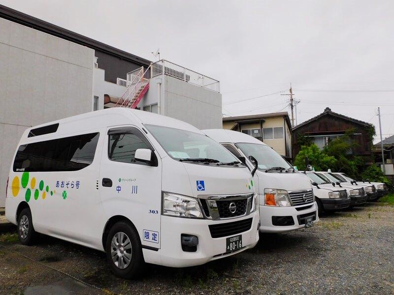 中川タクシーのリフト付きタクシー「あおぞら号」