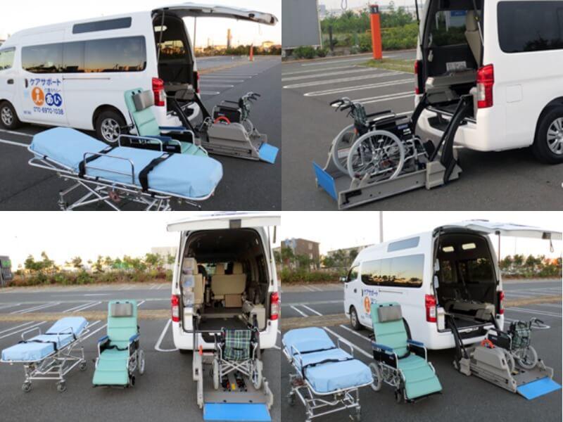 車両設備と機材一式