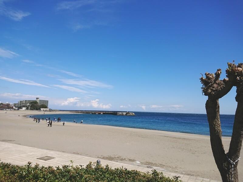 長浜の海岸