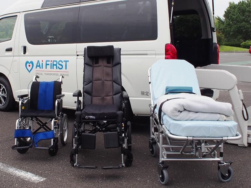 介護タクシーの装備品