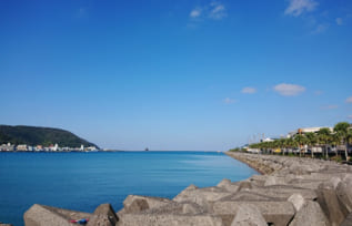 奄美大島名瀬港の風景