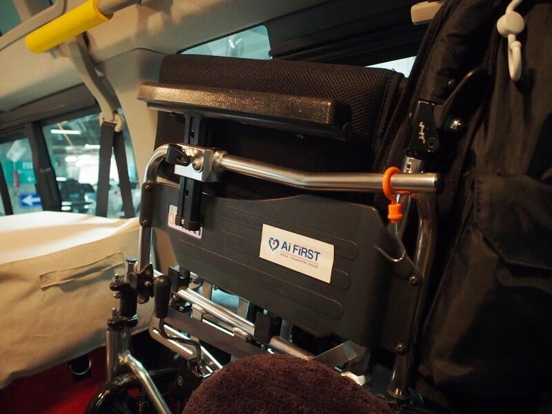 車いすに貼ったステッカー