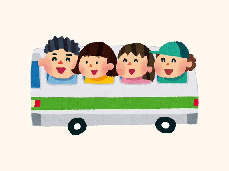 修学旅行バスのイラスト
