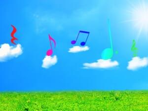 雲の上の音符