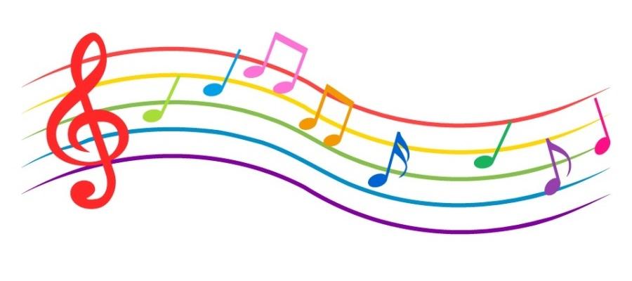 カラフルな音符