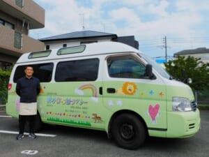 前かけ福祉タクシーの平川さん